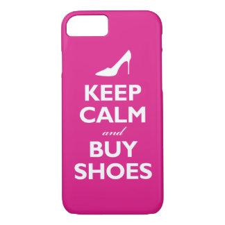 Mantenga tranquilo y compre zapatos (las rosas funda iPhone 7