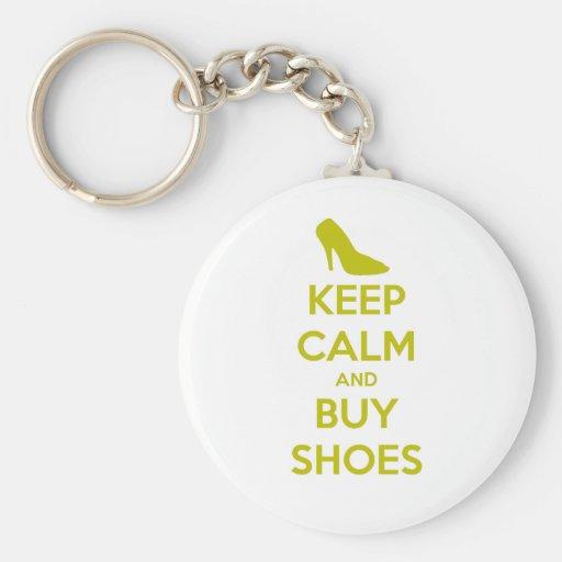 Mantenga tranquilo y compre zapatos llavero redondo tipo pin