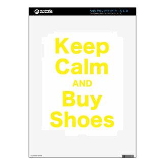 Mantenga tranquilo y compre zapatos pegatina skin para iPad 3