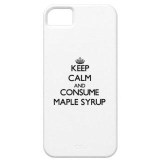 Mantenga tranquilo y consuma el jarabe de arce iPhone 5 protector