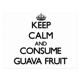 Mantenga tranquilo y consuma la fruta de guayaba postal