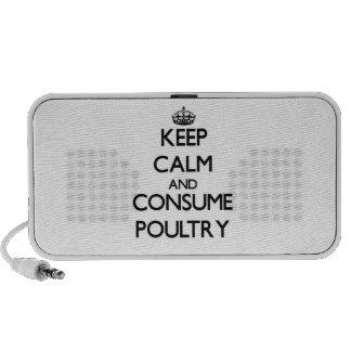 Mantenga tranquilo y consuma las aves de corral portátil altavoz