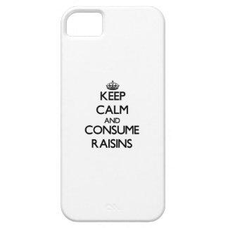 Mantenga tranquilo y consuma las pasas iPhone 5 funda