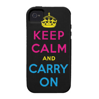 mantenga tranquilo y continúe CMYK iPhone 4 Fundas