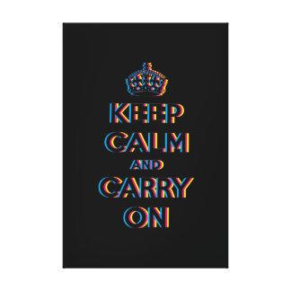 mantenga tranquilo y continúe CMYK Lona Envuelta Para Galerías