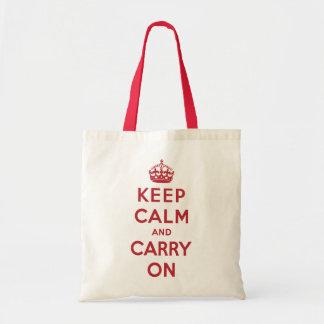Mantenga tranquilo y continúe el bolso bolsa lienzo