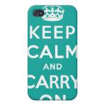 Mantenga tranquilo y continúe el caso del iPhone 4 iPhone 4 Carcasa