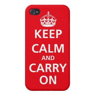 Mantenga tranquilo y continúe el caso del iPhone 4 iPhone 4 Carcasas