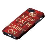 Mantenga tranquilo y continúe el caso del iPhone 5 iPhone 5 Carcasas