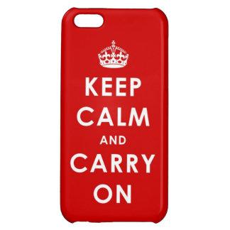 Mantenga tranquilo y continúe el caso del iPhone 5