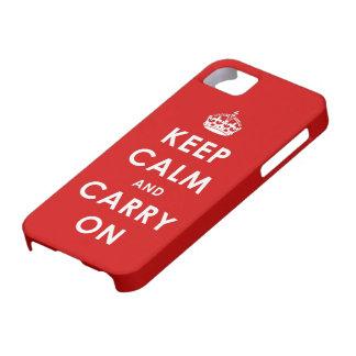Mantenga tranquilo y continúe el caso del iPhone 5 iPhone 5 Fundas