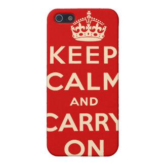 Mantenga tranquilo y continúe el caso del iPhone iPhone 5 Funda