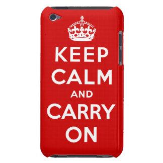 Mantenga tranquilo y continúe el caso del tacto de barely there iPod protector