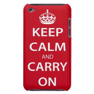 Mantenga tranquilo y continúe el caso del tacto de iPod touch carcasa