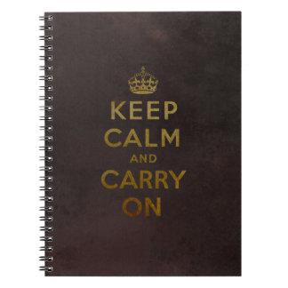 Mantenga tranquilo y continúe el cuaderno