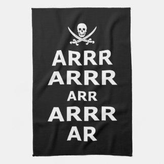 Mantenga tranquilo y continúe el estilo del pirata toallas de mano