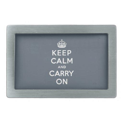Mantenga tranquilo y continúe el gris de pizarra c hebilla cinturón rectangular