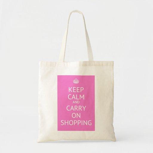 Mantenga tranquilo y continúe el hacer compras bolsa tela barata
