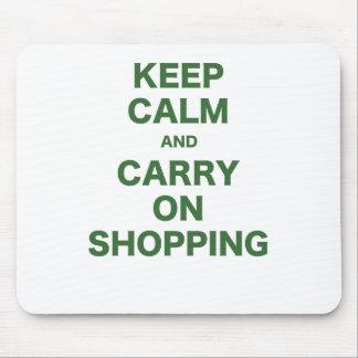 Mantenga tranquilo y continúe el hacer compras tapetes de ratones