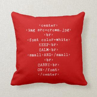 Mantenga tranquilo y continúe el HTML en cualquie Cojin