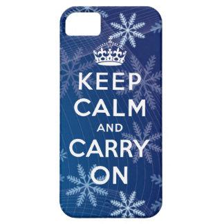 Mantenga tranquilo y continúe el iPhone 5 copos de iPhone 5 Case-Mate Protectores