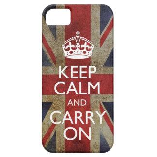Mantenga tranquilo y continúe el iPhone de la band iPhone 5 Case-Mate Carcasas