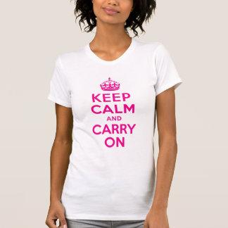 Mantenga tranquilo y continúe el mejor precio de l camisetas