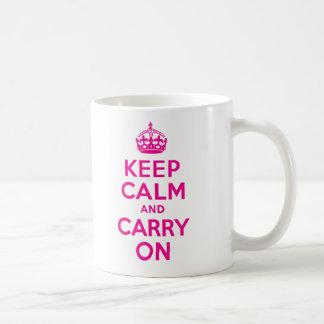 Mantenga tranquilo y continúe el mejor precio de taza clásica