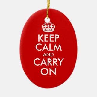 Mantenga tranquilo y continúe el ornamento ornato