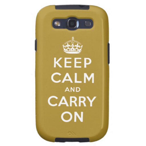 Mantenga tranquilo y continúe el ORO del caso el | Galaxy S3 Cobertura