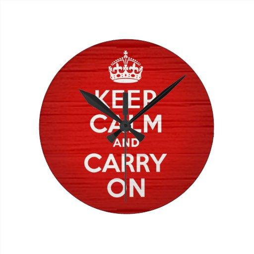 Mantenga tranquilo y continúe el reloj de pared