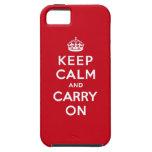 Mantenga tranquilo y continúe el rojo de Londres iPhone 5 Case-Mate Carcasa