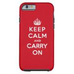 Mantenga tranquilo y continúe el rojo de Londres Funda De iPhone 6 Tough
