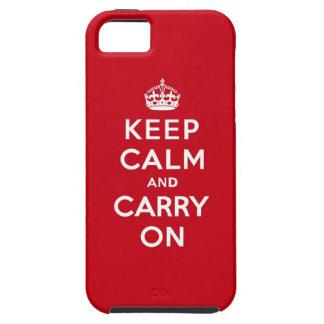 Mantenga tranquilo y continúe el rojo de Londres iPhone 5 Fundas