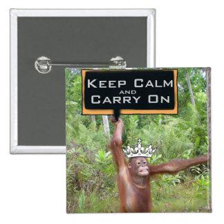 Mantenga tranquilo y continúe el safari de selva pin