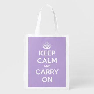 Mantenga tranquilo y continúe el tote bolsa para la compra