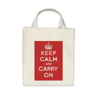 Mantenga tranquilo y continúe el tote del ultramar bolsas de mano