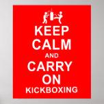 Mantenga tranquilo y continúe Kickboxing Impresiones