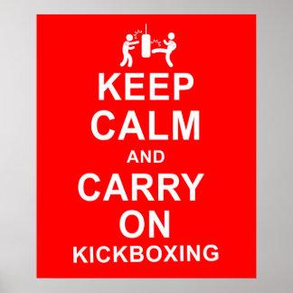 Mantenga tranquilo y continúe Kickboxing Póster