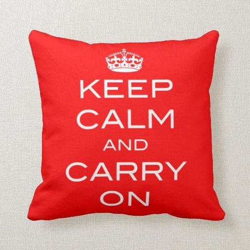 Mantenga tranquilo y continúe la almohada - CUALQU