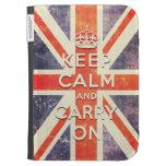 mantenga tranquilo y continúe la bandera de Union
