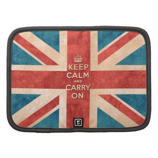 Mantenga tranquilo y continúe la bandera de Union  Planificadores