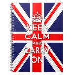 mantenga tranquilo y continúe la bandera de Union  Libretas