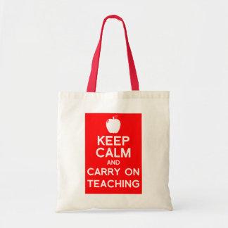 Mantenga tranquilo y continúe la bolsa de libros d