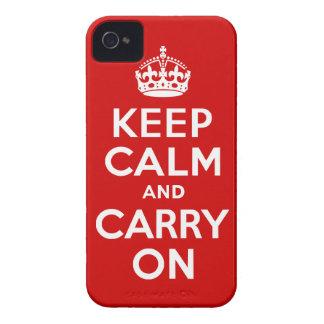 Mantenga tranquilo y continúe la caja de la Case-Mate iPhone 4 funda