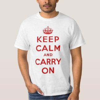 Mantenga tranquilo y continúe la camiseta del remera