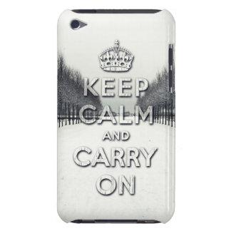 mantenga tranquilo y continúe la estación del invi Case-Mate iPod touch carcasa