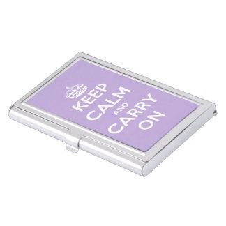 Mantenga tranquilo y continúe la lavanda de la caja de tarjetas de presentación