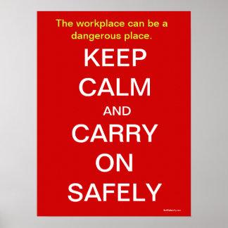 Mantenga tranquilo y continúe la muestra de salud  póster