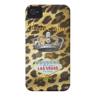 Mantenga tranquilo y continúe Las Vegas iPhone 4 Cárcasa